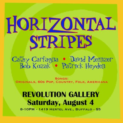 Horizontal Stripes<br>Saturday, August 4th  |  8:00pm