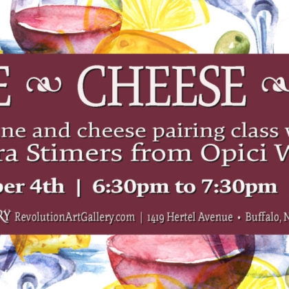 Wine, Cheese, Art<br>Thursday, October 4th  |  6:30pm