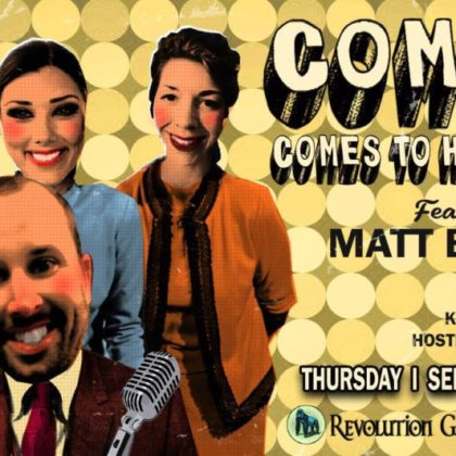 Comedy Comes to Hertel<br>Thursday, September 6th  |  8:00pm