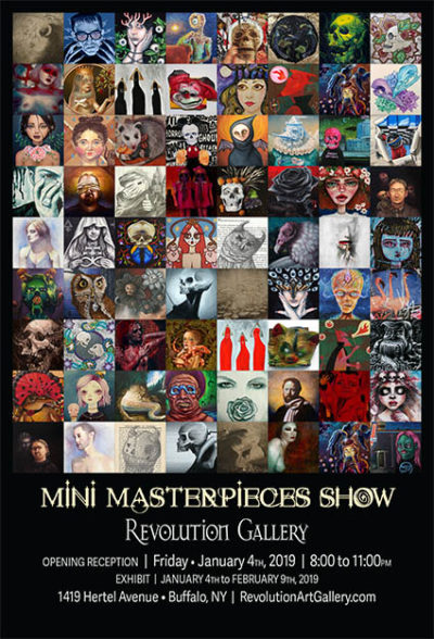 Mini Masterpieces<br>A Group Show of 88 Artists