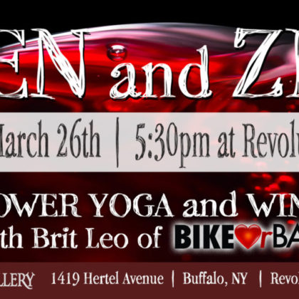 Zen and Zin<br>Friday, March 26th |  5:30pm