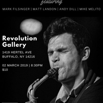 Elliot Scozzaro Quintet<br>Side Stage at Revolution Gallery<br>Saturday, March 2nd |  9:00pm