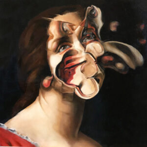 "</br><b>Nannette Cherry</b></br><i>Anamnesis (After...Carlo Dulci)</i></br>Oil on board<br>12"" x 12"" •  $600.  <br>"