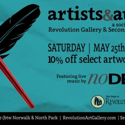 Artists and Authors<br>Saturday, May 25th |  5:00pm