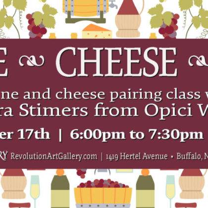 Wine • Cheese • Art<br>Thursday, October 17th<br>6:00pm – 7:30pm