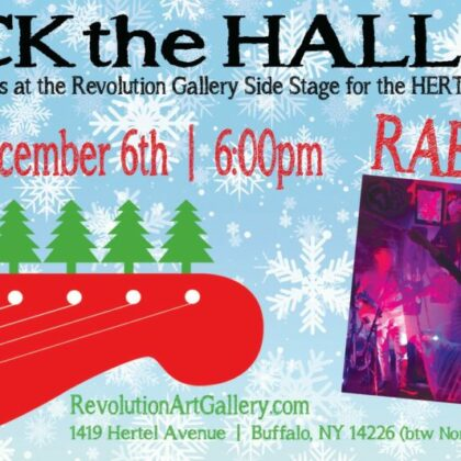 Rock the Halls<br>with Rabbit Jaw<br>Friday, December 6th<br>6:00pm