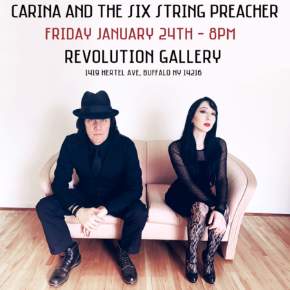 CARINA and the SIX STRING PREACHER<br>Friday, January 24th  |  8:00pm