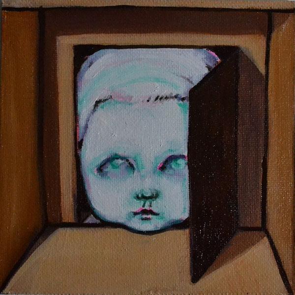 "Sonja LlamasThe RoomOil on Panel5"" x 5""  •  $180."