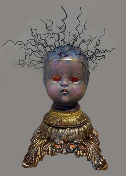 Deborah Petronio  Baby Blue HeadMixed media, electrical cord, lightbulb$200.