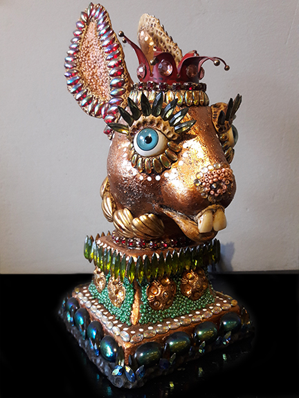 Deborah Petronio  Rabbit HeadMixed media$180.