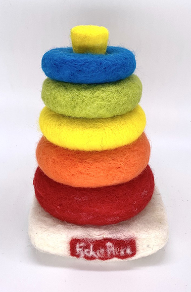 Michael Mararian Fisher Price Rocker StackerFelted material  •  $200.