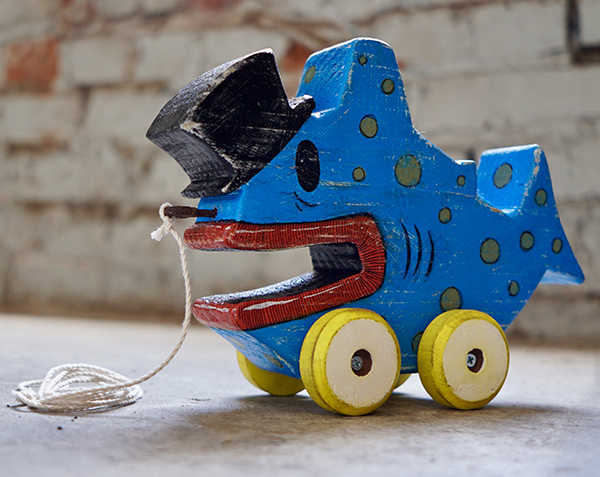 Jim Garmhausen  Fishy SoisseVintage Pull Toy •  $90.