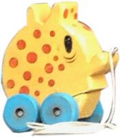 Jim Garmhausen  Orange WhatsitVintage Pull Toy •  $65.