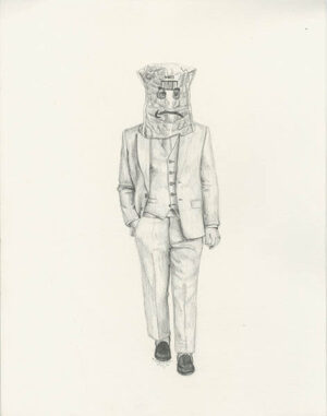 "Peter Adamyan  Same Day DeliveryGraphite on paper11"" x 14""  •  $150.  •"