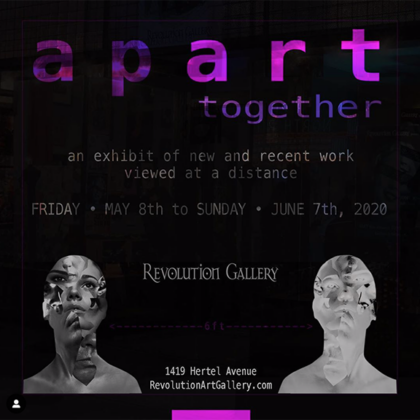 APART TOGETHER Group Exhibit<br>Friday, May 8th  |  5:00pm