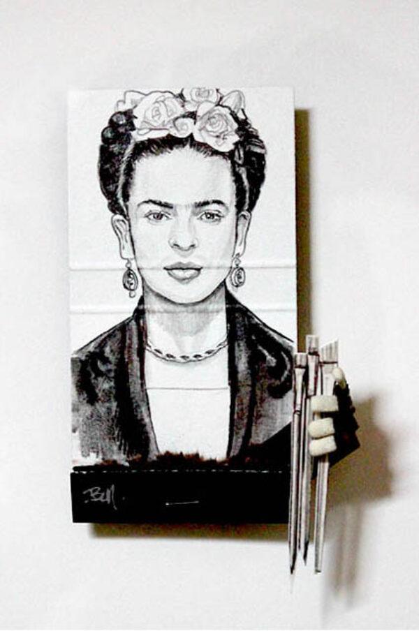 Frida Kahlo Matchbook