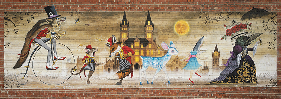 """Queen City Procession"" limited edition prints (signed and numbered by mural artist Joe Völlan)"