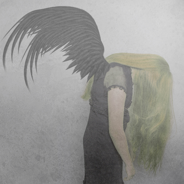 manipulated photo of fallen angel